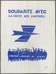 Solidarité avec le grève des postiers contre les briseurs de grève