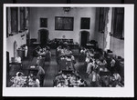 [Interior of the Burwash Hall dining room]