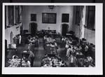 [Interior of the Burwash Hall dining room]