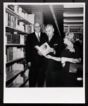 Prime Minister John Diefenbaker and E.J. Pratt at the opening of the E.J. Pratt Library, 1961