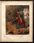The pilgrims meeting with a lion.