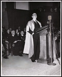 Lester Pearson speaking at his installation as Chancellor, February 4 1952
