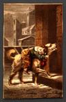 [Dog carries sleeping boy home].
