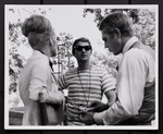 """[Norman Jewison with Steve McQueen and Faye Dunaway in """"Thomas Crown Affair"""", 1968]"""