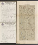 Early British Columbia telephone, telegraph and Mounted Police map with Gisborne correspondence