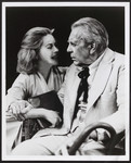 "Dorothy McGuire as Hannah Jelkes and Raymond Massey as ""Nonno"" in ""Night of the Iguana"" at the Ahamson Theater, Los Angeles, in 1976"